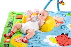 Gimnasia del bebé aislada Fotografía de archivo libre de regalías