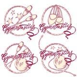 Gimnasia del logotipo fotografía de archivo libre de regalías
