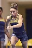 2015 gimnasia del NCAA - estado de WVU-Penn Imágenes de archivo libres de regalías