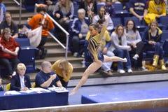 2015 gimnasia del NCAA - estado de WVU-Penn Fotografía de archivo libre de regalías