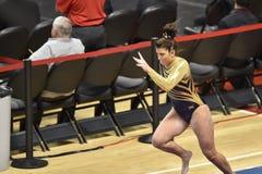 2015 gimnasia del NCAA - Virginia Occidental Foto de archivo libre de regalías