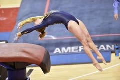 2015 gimnasia del NCAA - Virginia Occidental Foto de archivo