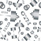Gimnasia Modelo inconsútil del vector stock de ilustración