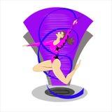Gimnasia rítmica - icono vectorial coloreado Foto de archivo