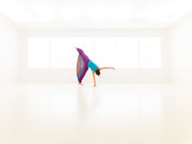 Gimnasio de salto de las mujeres de la danza Imagenes de archivo