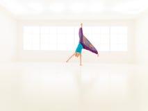Gimnasio de salto de las mujeres de la danza Fotografía de archivo libre de regalías