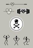 Gimnasio del emblema ilustración del vector