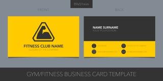 Gimnasio, disposición del vector del club de deporte de la tarjeta de visita con los detalles corporativos del logotipo, del icon libre illustration