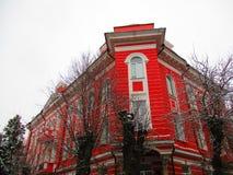 Gimnasio para las muchachas, Kamenets-Podolskiy, Ucrania Foto de archivo