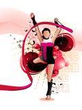 gimnast διάνυσμα απεικόνισης απεικόνιση αποθεμάτων
