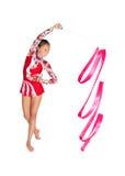 Gimnasta asiático hermoso de la muchacha Imagen de archivo libre de regalías