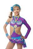Gimnasta del adolescente con una medalla Imagen de archivo