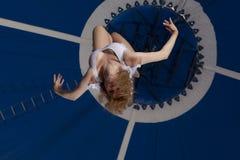 Gimnasta del aire del circo Imagen de archivo