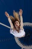 Gimnasta del aire del circo Fotos de archivo libres de regalías