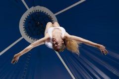 Gimnasta del aire del circo Fotos de archivo