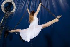 Gimnasta del aire del circo Foto de archivo