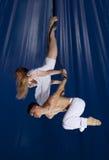 Gimnasta del aire del circo de los pares Imagen de archivo libre de regalías