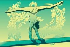 Gimnasta flexible libre illustration