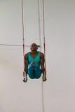 Gimnastyczek konkurowania Męscy pierścionki Obraz Royalty Free