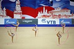 gimnastyczek prezentaci faborki Zdjęcia Stock