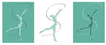 gimnastyczka ilustracji