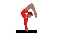 gimnastyczka royalty ilustracja