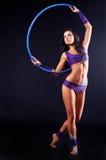 Gimnastyczka z bodyart Zdjęcia Royalty Free