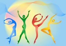 gimnastyczki Obrazy Stock