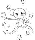 Gimnastyczki kolorystyki strona Obraz Stock