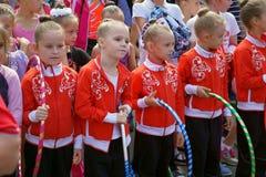 gimnastyczki młode Zdjęcia Stock