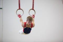 Gimnastyczki samiec Dzwoni Horyzontalnej pozyci zakończenie Obraz Stock