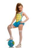 gimnastyczna balowa dziewczyna Obrazy Royalty Free