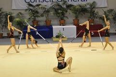 gimnastyczny rythmic zdjęcie royalty free