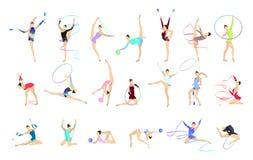 Gimnastyk ilustracje ustawiać ilustracji