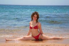 gimnastyka morskie Zdjęcia Royalty Free