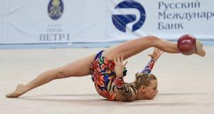 gimnastyka turniej międzynarodowy rytmiczny obrazy stock