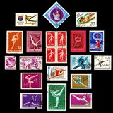 Gimnastyka znaczków serie Fotografia Stock