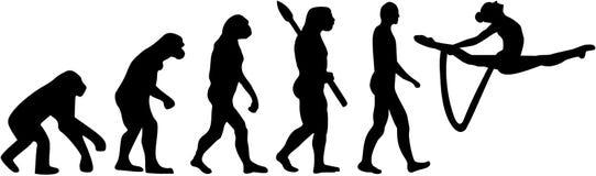 Gimnastyki ewolucja z arkaną royalty ilustracja