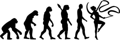 Gimnastyki ewolucja z faborkiem royalty ilustracja