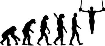 Gimnastyki ewolucja z pierścionkami royalty ilustracja