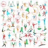 Gimnastyki I Baletniczy Duży set royalty ilustracja