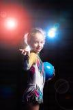 gimnastyki rytmiczne Zdjęcie Royalty Free