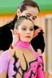 gimnastyki rytmiczne Zdjęcia Royalty Free