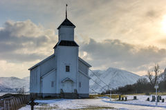 Gimsoy Church - Norway Royalty Free Stock Photos