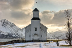 Gimsoy Church - Norway Stock Image