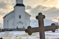Gimsoy Church - Norway Stock Images