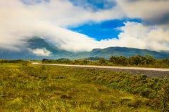 Gimsoya海岛风景Lofoten挪威 图库摄影