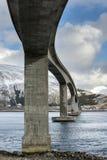 Gimsoystraumen Bridge, on Lofoten Islands Stock Photo