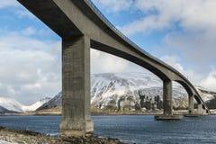 Gimsoystraumen Bridge, on Lofoten Islands Stock Image