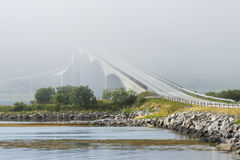 Gimsoystraumen Bridge, Lofoten, Norway Royalty Free Stock Photo